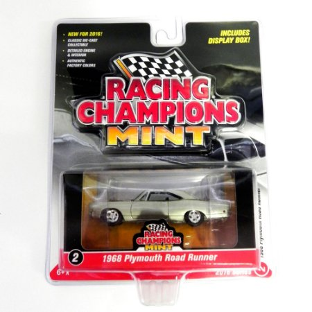 Plymouth Road Runner 1968 1/64 Johnny Lightning Racing Champions