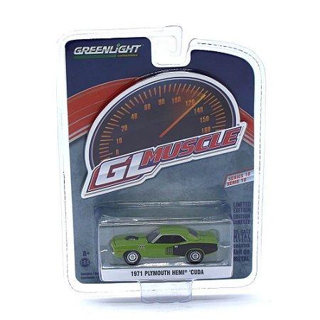 Plymouth Hemi Cuda 1971 GL Muscle Serie 18 1/64 Greenlight