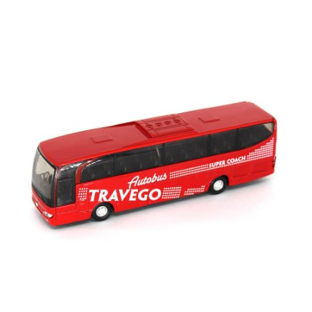 Ônibus Mercedes Benz Travego Super Coach Com Fricção 1/60 Welly