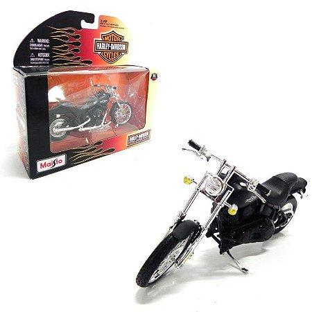 Moto Harley Davidson 2008 Fxstb Night Train 1/18 Maisto Série 26