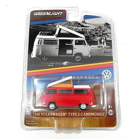 Volkswagen Kombi Type 2 Campmobile 1968 1/64 Greenlight