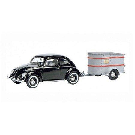 """Volkswagen Fusca """"Brezelkafer"""" e Sportberger G2 1/43 Schuco"""