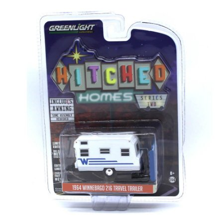Trailer Winnebago 216 Travel 1964 1/64 Greenlight