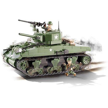 Tanque de Guerra Sherman M4A1 Blocos de Montar 400 Peças Cobi