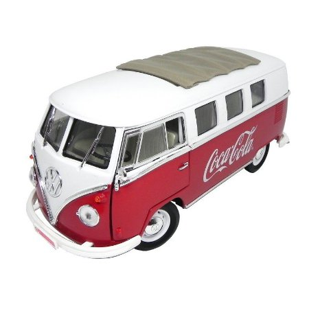 Volkswagen Kombi Vermelha Coca Cola 1962 1/18 Motor City Classics