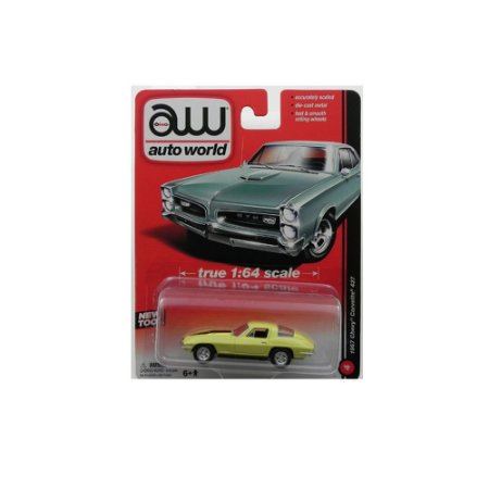 Chevrolet Corvette C2 427 1967 1/64 Auto World Amarelo