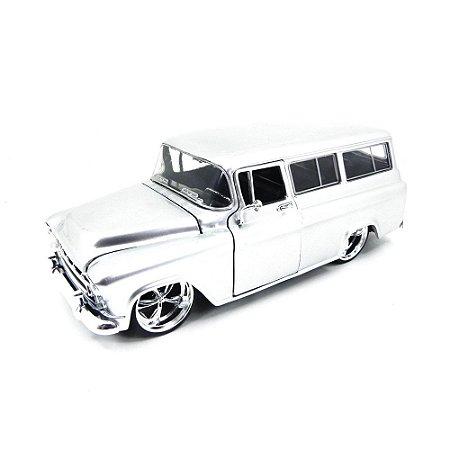 Chevrolet Suburban 1957 Cinza 1/24 Jada Toys Big Time Kustoms