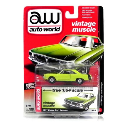 Dodge Dart Swinger 1971 1/64 Auto World Verde