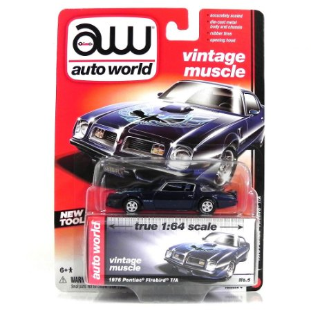Pontiac Firebird 1975 1/64 Auto World Roxo