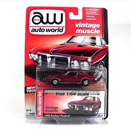 Pontiac Firebird 1969 1/64 Auto World Vermelho