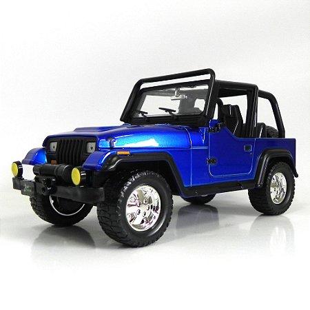 Jeep Wrangler 1992 1/24 Azul Jada Toys