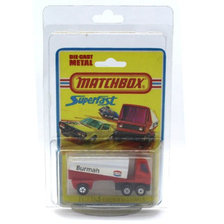 Freeway Gas Tanker Burmah Superfast 63 1/64 Matchbox