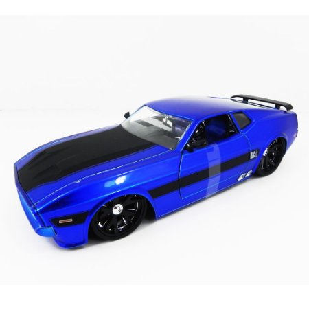 Ford Mustang Mach 1 1973 Azul 1/24 Jada Toys