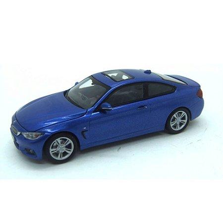 BMW 4 Series 435I Coupe F36 2014 Azul 1/43 Paragon