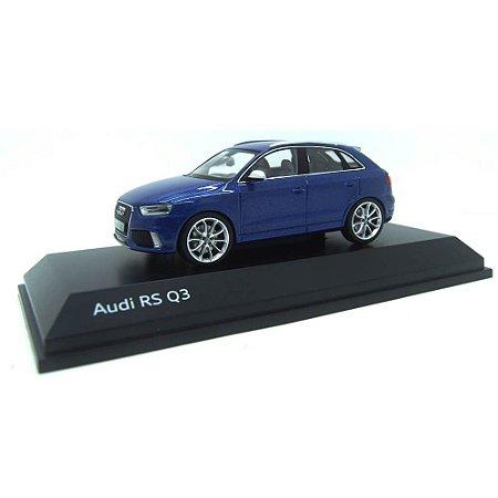 Audi Q3 RS 4 Portas 2013 Azul 1/43 Schuco