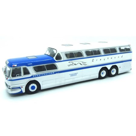 Ônibus Scenicruiser PD 451 Greyhound Lines 1956 1/43 Ixo