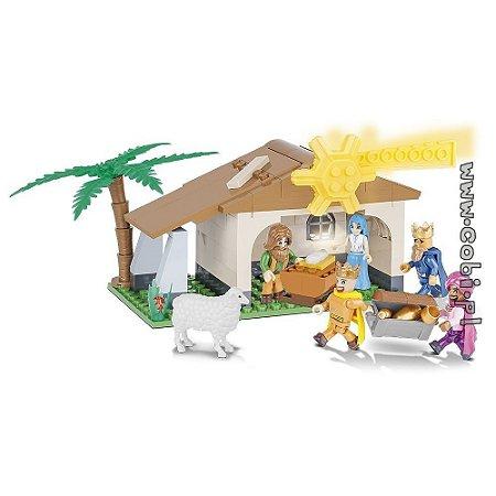 Presépio de Natal Nascimento de Cristo Blocos de Montar 140 Peças Cobi