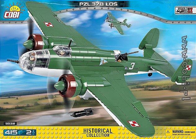 Avião PZL P-37B łoś Blocos de Montar 415 Peças Cobi