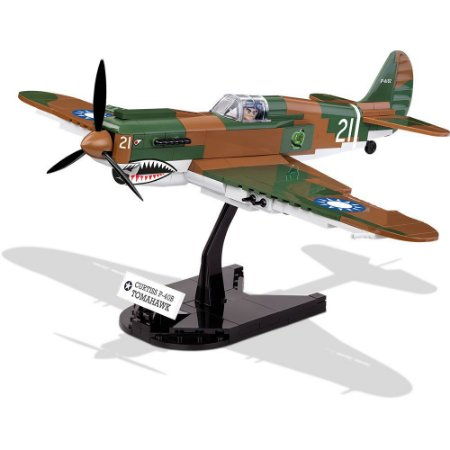 Avião Curtiss P-40 Tomahawk Blocos de Montar 270 Peças Cobi
