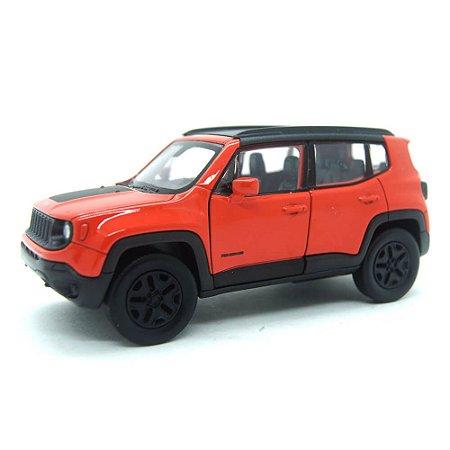 Jeep Renegade Trailhawk Laranja Com Fricção 1/32 Welly
