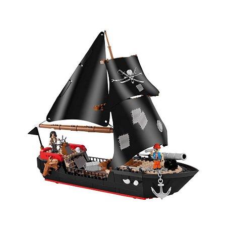 Navio Pirata Blocos de Montar 320 Peças Cobi