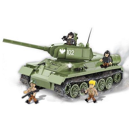 Tanque de Guerra T34/85 m 1944 Blocos de Montar 400 Peças Cobi