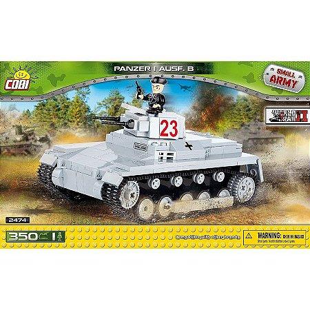 Tanque de Guerra Panzer I Ausf. B Blocos de Montar 350 Peças Cobi