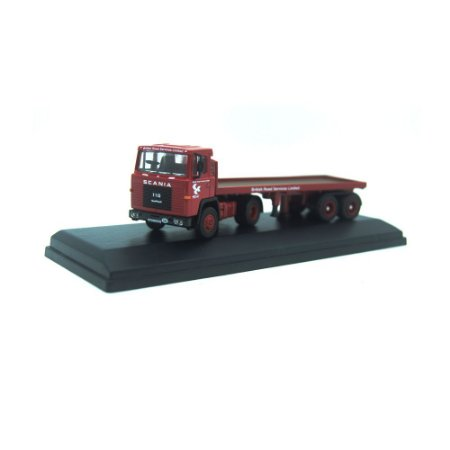 Scania 110 Flatbed Trailler BRS 1/76 Oxford
