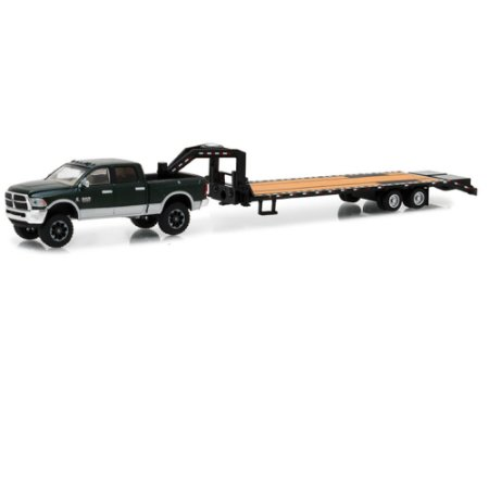 Dodge Ram 2500 2017 Gooseneck Trailer 1/64 Greenlight Hitch & Tow Series 12