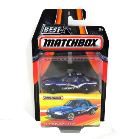 1993 Ford Mustang Lx Ssp Policia 1/64 Best Of Matchbox Matchdkc95-2B10