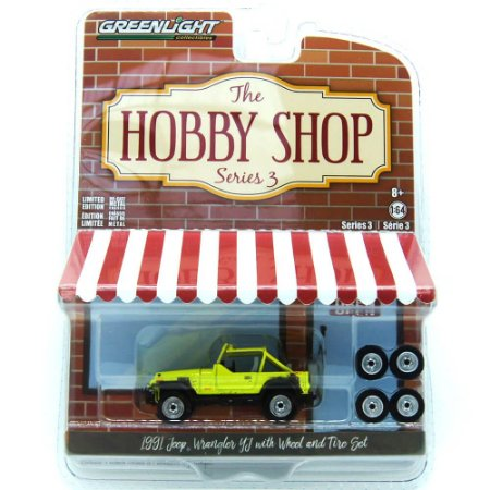 Jeep Wrangler 1991 The Hobby Shop Series 3 1/64 Greenlight