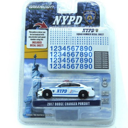 Dodge Charger Pursuit 2017 NYPD 1/64 Greenlight