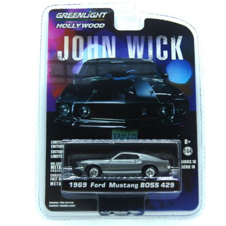 Ford Mustang Boss 429 1969 John Wick 1/64 Greenlight