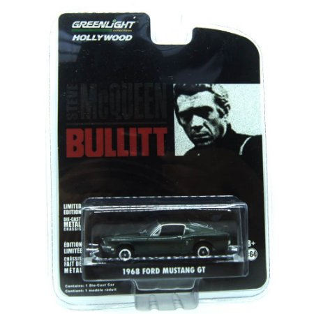 Ford Mustang GT 1968 Bullitt 1/64 Greenlight