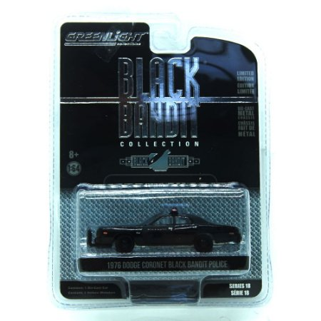Dodge Coronet Black Bandit Police 1976 Black Bandit 1/64 Greenlight