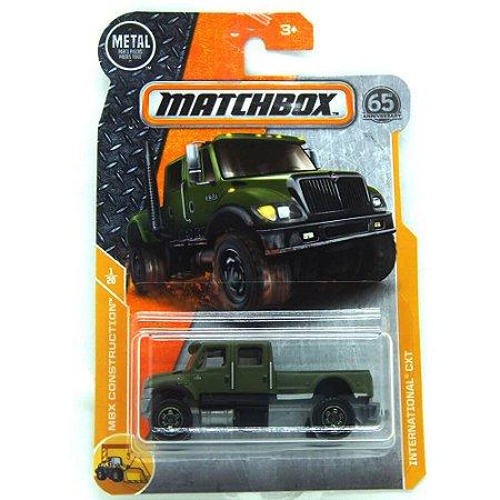 Caminhão International CXT MBX Construction 1/64 Matchbox