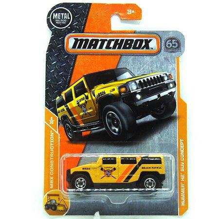 Hummer H2 SUV Concept MBX Construction 1/64 Matchbox