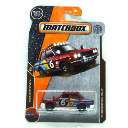 Datsun 510 Rally 1970 MBX Off Road 1/64 Matchbox