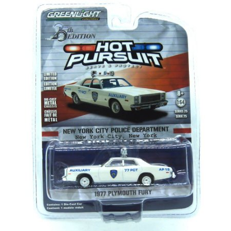 Plymouth Fury 1977 Hot Pursuit 25th Edition 1/64 Greenlight