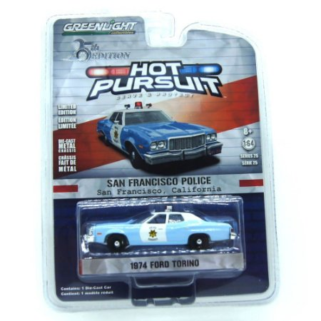 Ford Torino 1974 Hot Pursuit 25th Edition 1/64 Greenlight