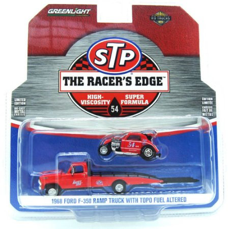 Caminhão Ford F-350 Ramp com Topo Fuel Altered STP The Racer's Edge HD Trucks 1/64 Greenlight
