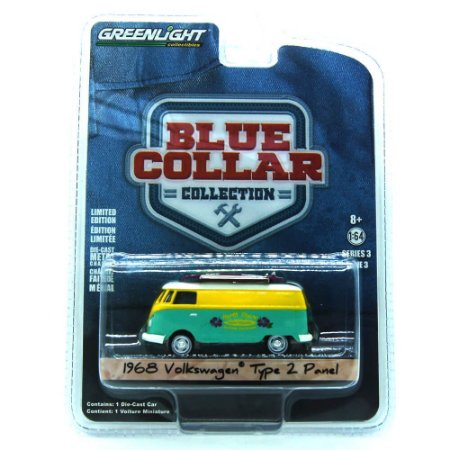 Volkswagen Type 2 Panel 1968 Blue Collar 1/64 Greenlight
