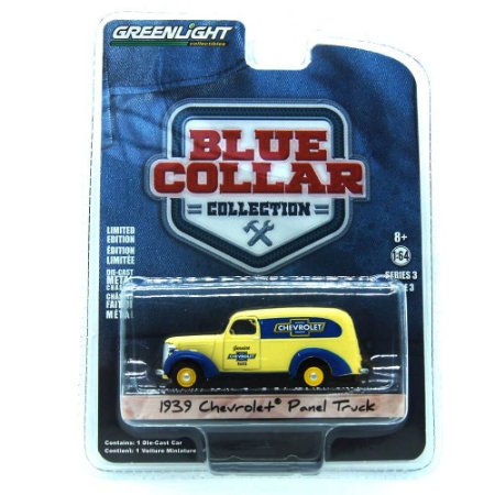 Chevrolet Panel Truck 1939 Blue Collar 1/64 Greenlight