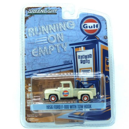 Caminhão Ford F-100 1956 With Tow Hook Running On Empty 1/64 Greenlight