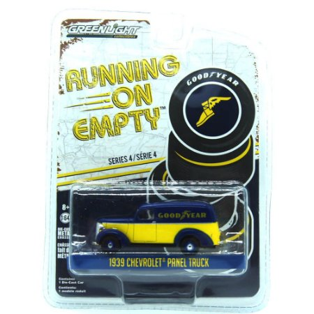 Chevrolet Panel Truck 1939 Running On Empty GoodYear 1/64 Greenlight
