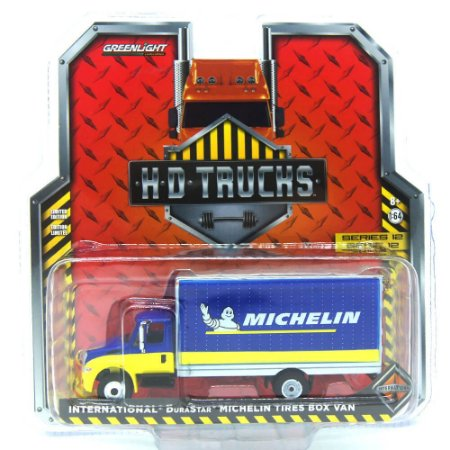 Caminhão Baú Internacional DuraStar Michelin Tires HD Trucks 1/64 Greenlight