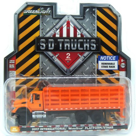 Caminhão international WorkStar Plataform/Stake SD Trucks 1/64 Greenlight