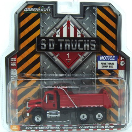 Caminhão International WorkStar Platform/Stake SD Trucks 1/64 Greenlight