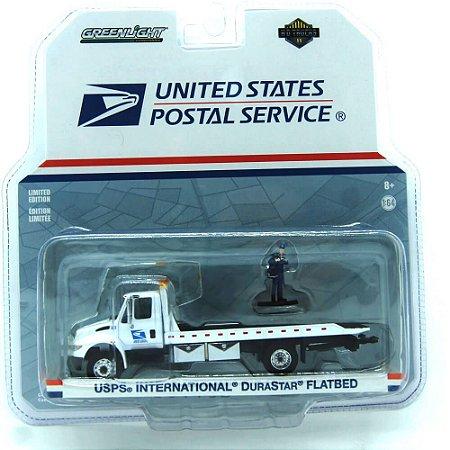 Caminhão USPS International DuraStar Unitede States Postal Service Hot Trucks 1/64 Greenlight