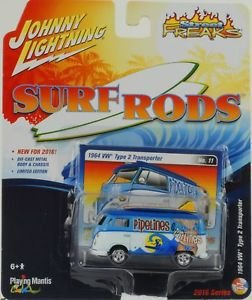 VW Type 2 Transporter Surf Roads 1/64 Johnny Lightning